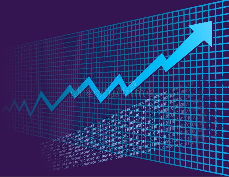 绘制增长图表 皇族释放例证