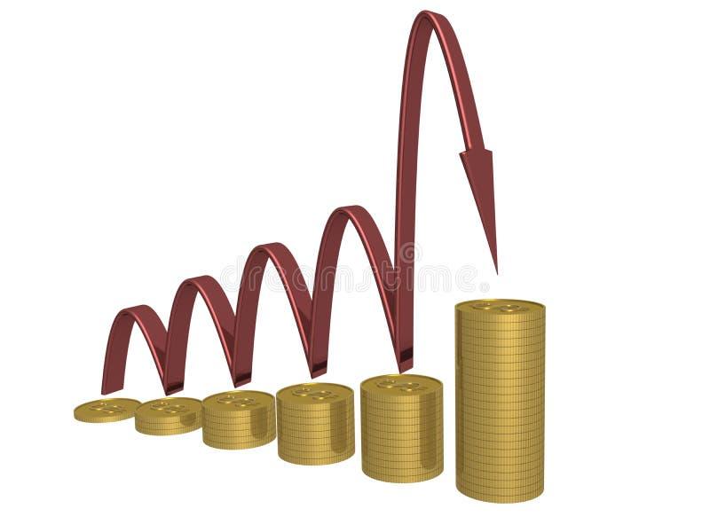 绘制增长 库存例证