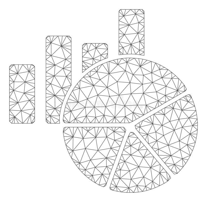 绘制多角形框架传染媒介滤网例证图表 向量例证