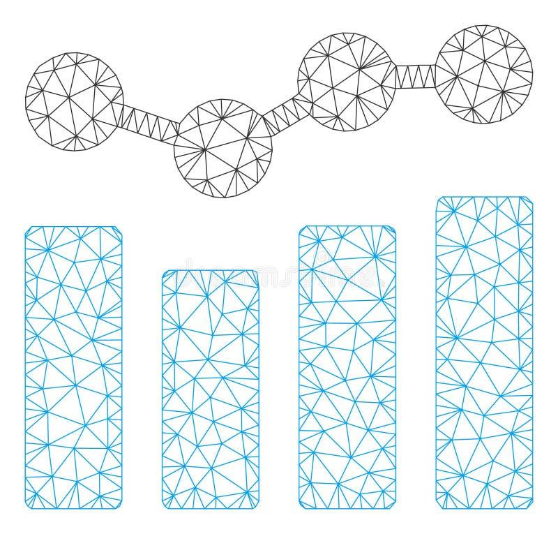 绘制多角形框架传染媒介滤网例证图表 皇族释放例证