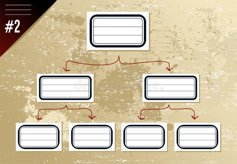 绘制层次结构葡萄酒 库存例证