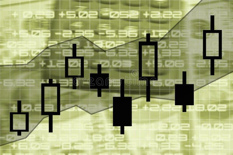 绘制市场股票图表 向量例证