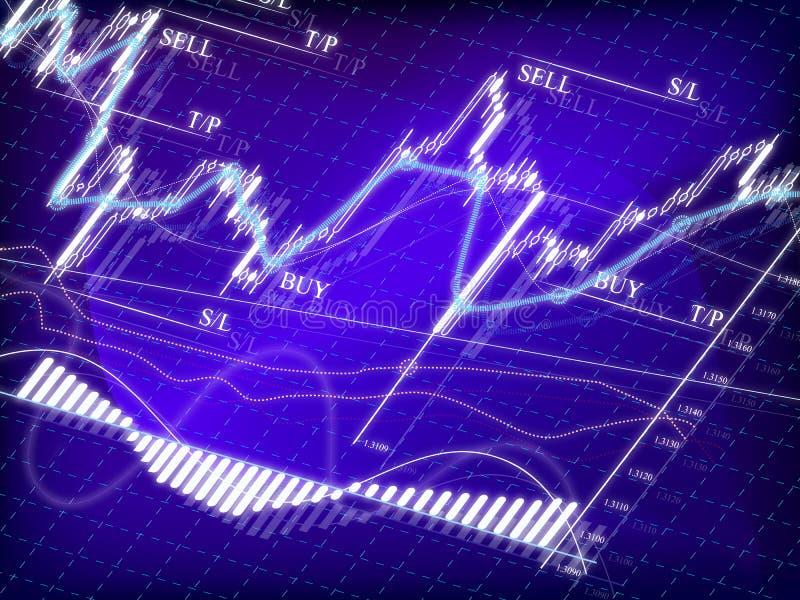 绘制市场股票 向量例证