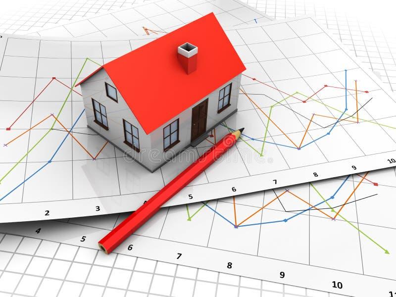 绘制房子 向量例证