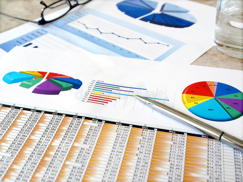 绘制投资图表 库存图片