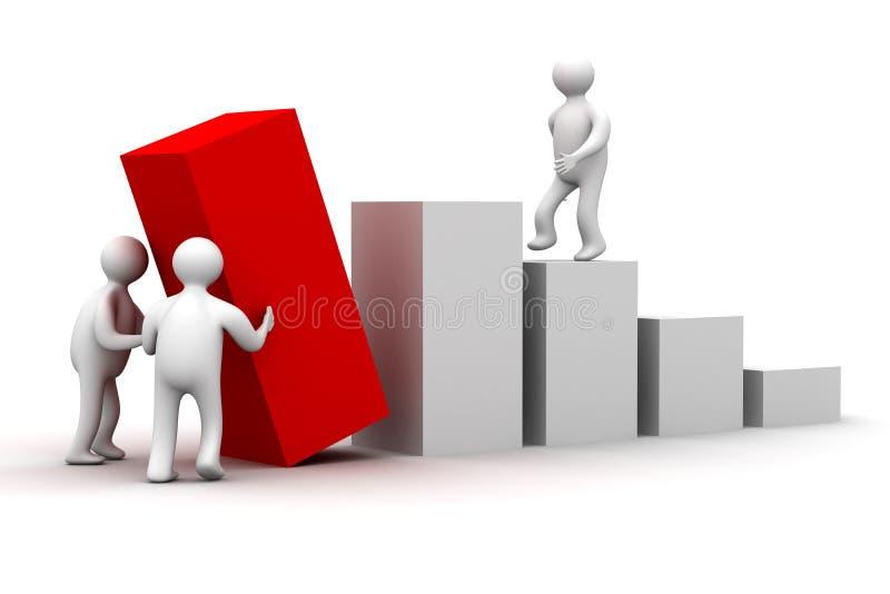 绘制查出的增长例证 向量例证