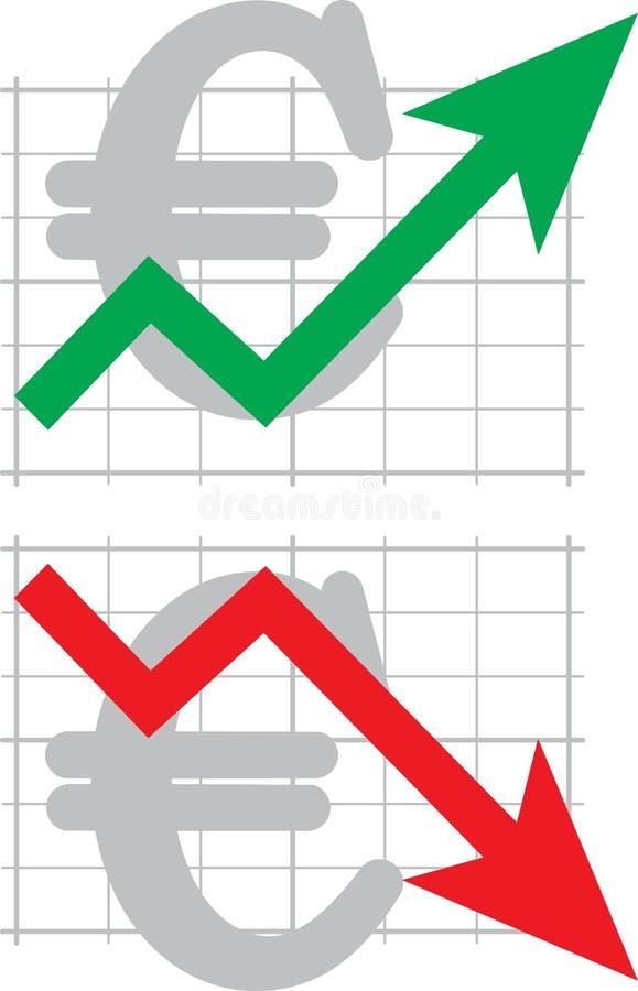 绘制汇率 向量例证