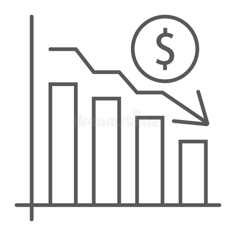 绘制稀薄的线象图表,提供经费给银行业务,减少 皇族释放例证