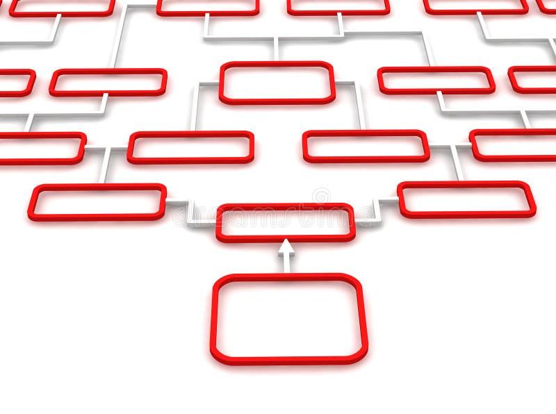 绘制红色概要白色 向量例证