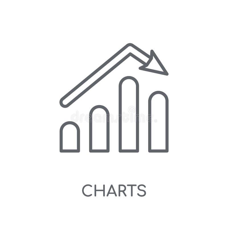 绘制线性象图表 现代概述绘制在白色的商标概念图表 库存例证