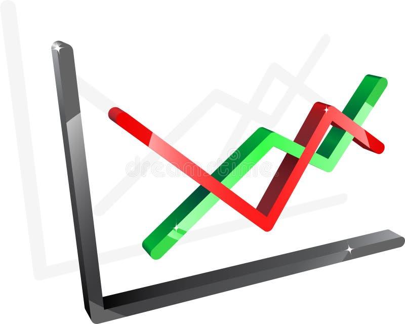 绘制绿色红色 库存例证