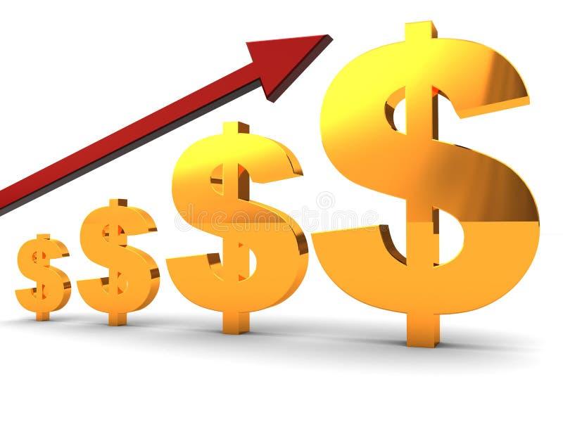绘制美元图表 向量例证