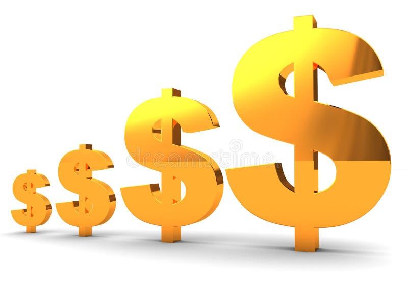 绘制美元图表 库存例证