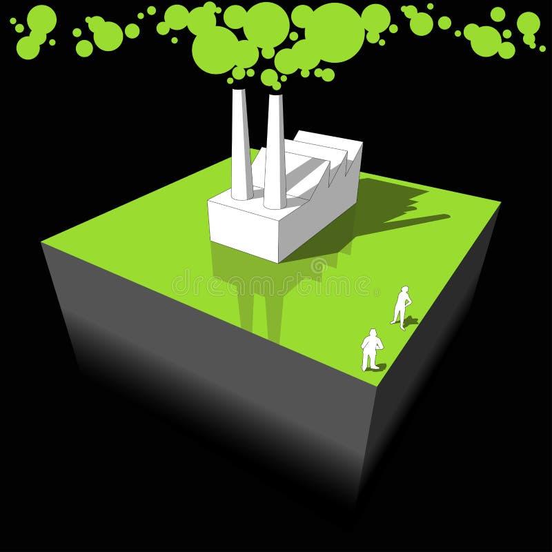 绘制行业污染 库存例证