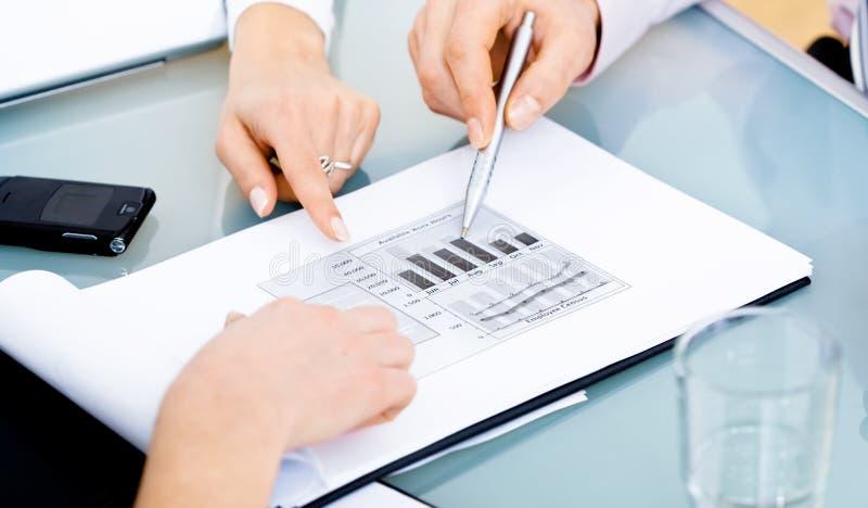 绘制表 免版税库存图片