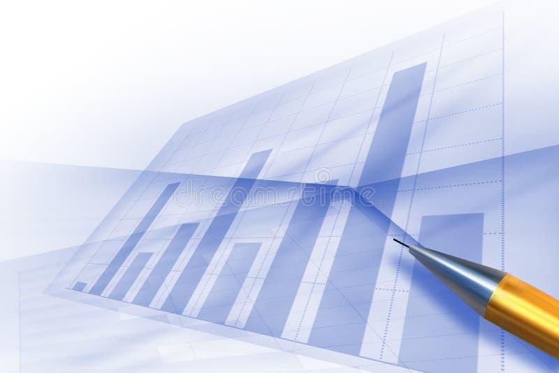 绘制计算机绘制股票图表 库存例证