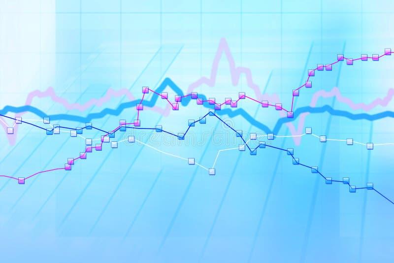 绘制计算机绘制股票图表 向量例证