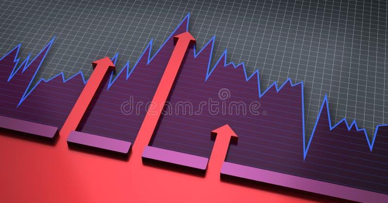 绘制财务图形图表 库存例证