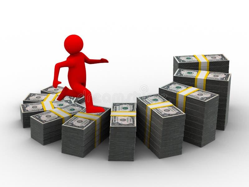 绘制财务增长 库存例证