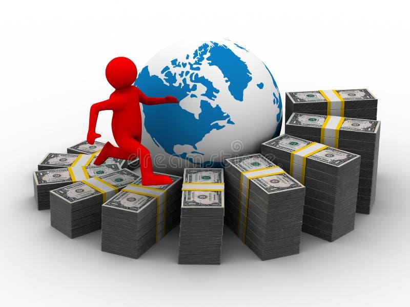 绘制财务增长 皇族释放例证