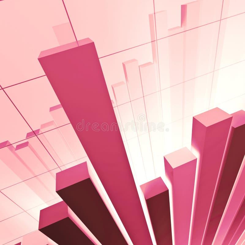 绘制财务stat 库存例证