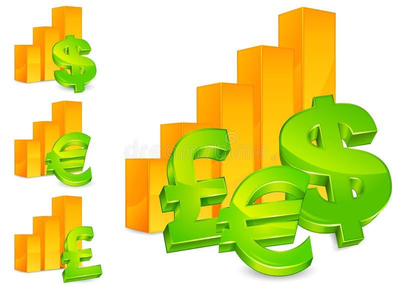 绘制货币符号 向量例证