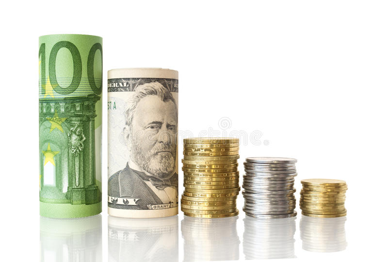 绘制货币 库存照片
