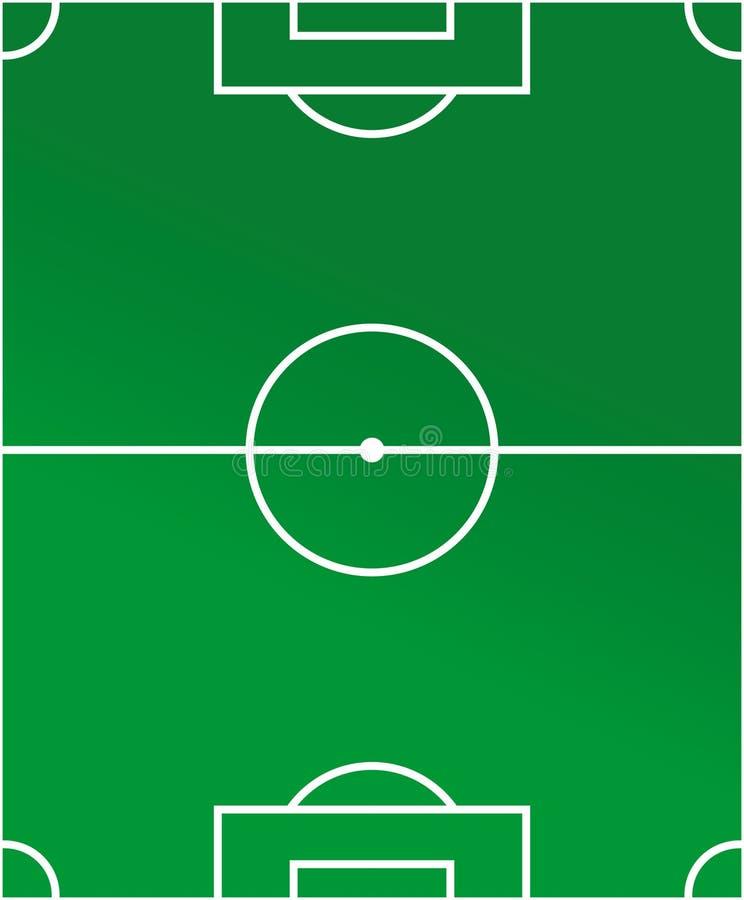 绘制足球场 库存例证