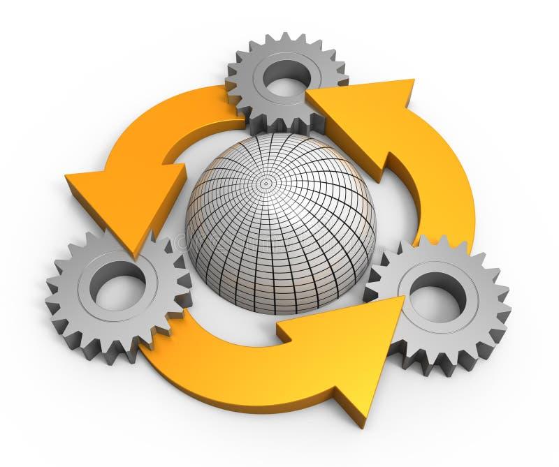 绘制进程 库存例证