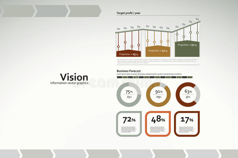 绘制infographics统计数据远见图表 皇族释放例证