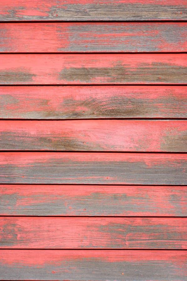 绘削皮红色墙壁 库存图片
