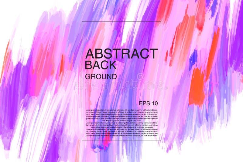 绘抽象背景设计 Oill油漆看起来五颜六色的纹理 艺术性的背景 与数字式水平的横幅 库存例证