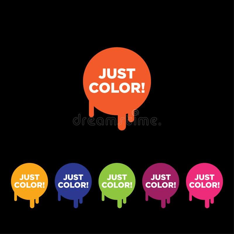 绘按钮 颜色商标 绘象征 绘画商标 皇族释放例证