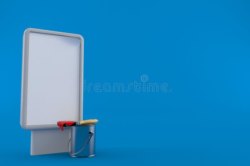 绘有空白的广告牌的罐头 向量例证