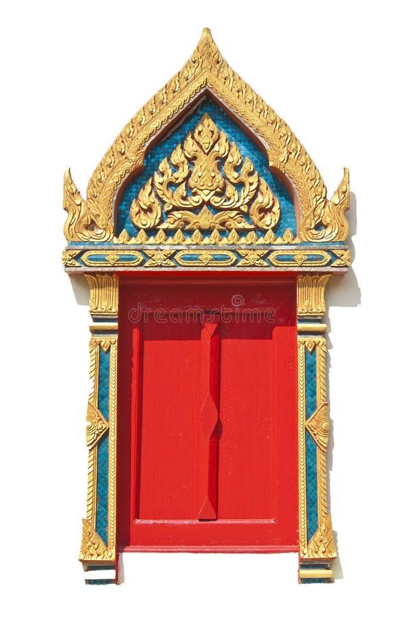 绘样式的泰国视窗 免版税图库摄影