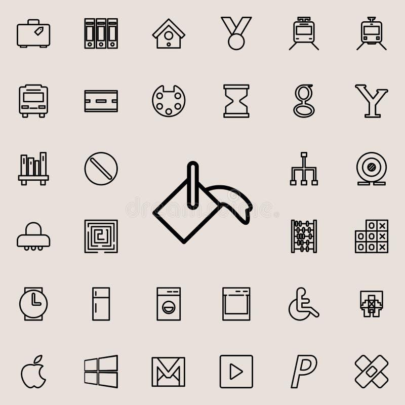 绘桶象 详细的套minimalistic线象 优质图形设计 其中一个网站的汇集象,网 库存例证