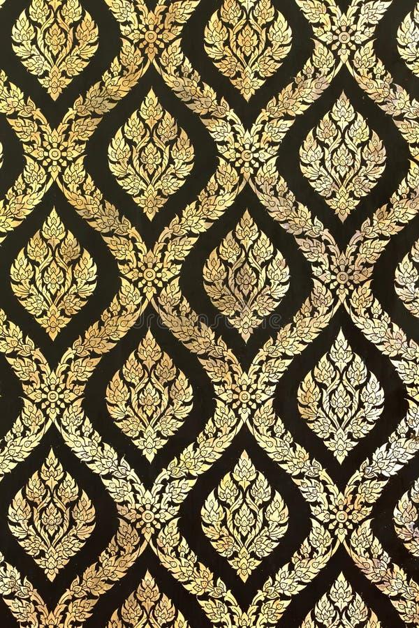 绘泰国传统的中国装饰品 免版税库存图片