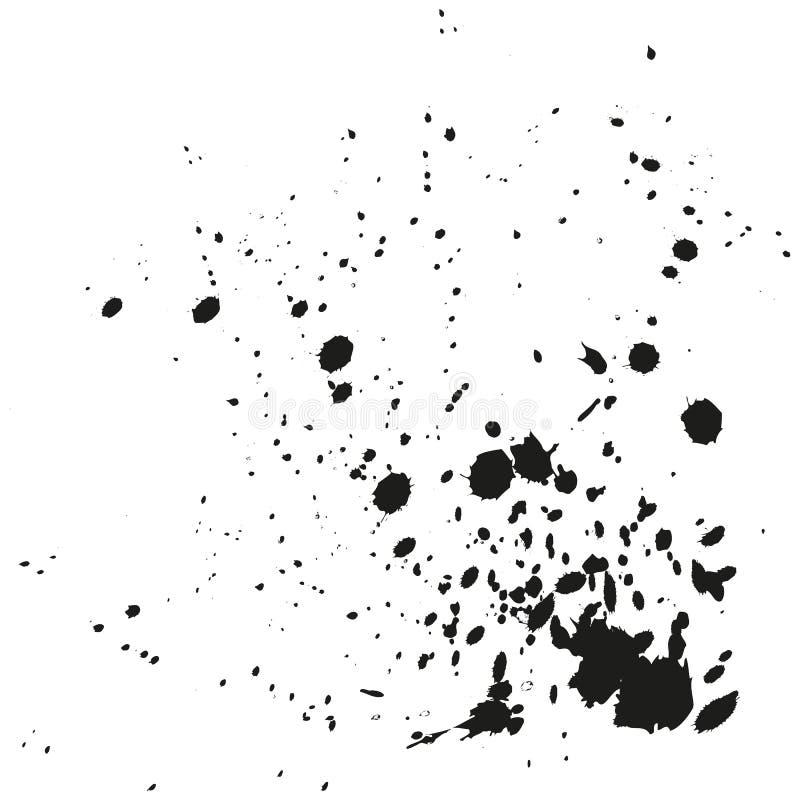 绘泼溅物背景 难看的东西困厄书法墨水污点 贷方打击爆炸 泼溅物背景 喷漆 向量例证