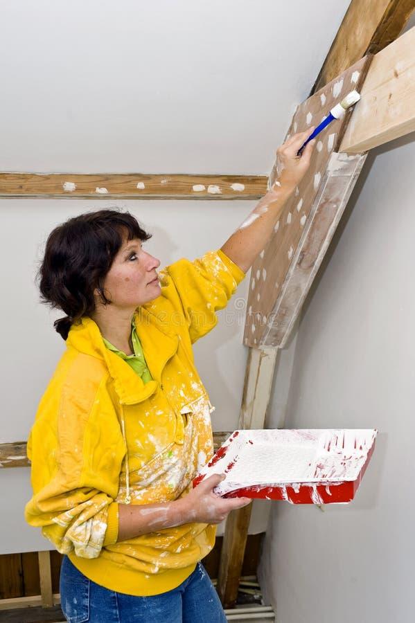 绘画妇女 库存图片