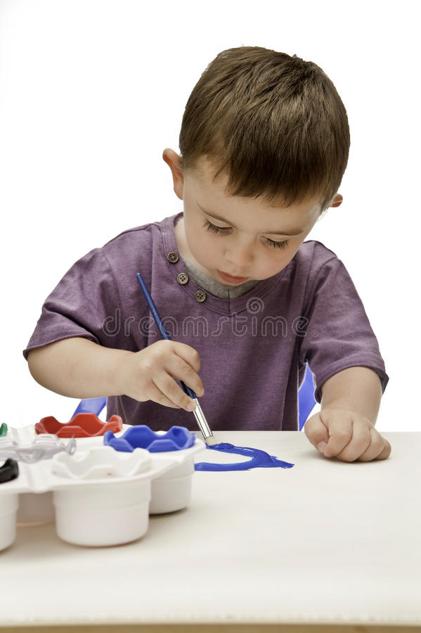 绘画小孩 免版税库存图片