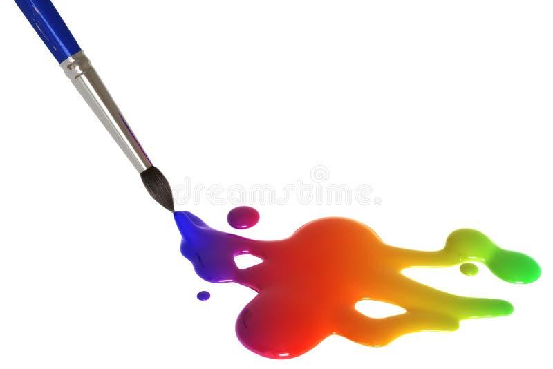绘画彩虹 向量例证