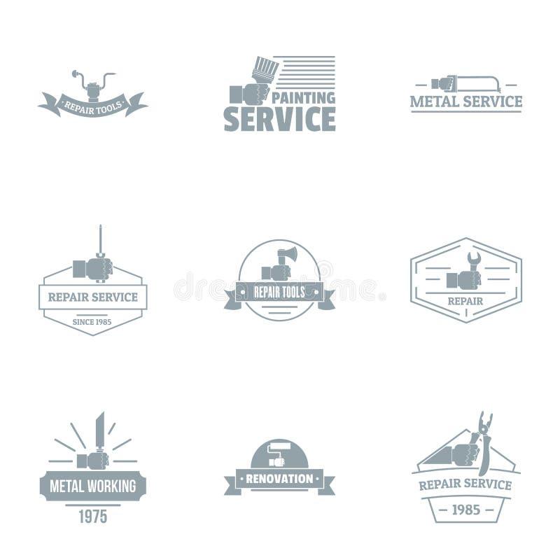 绘画服务商标集合,简单的样式 向量例证