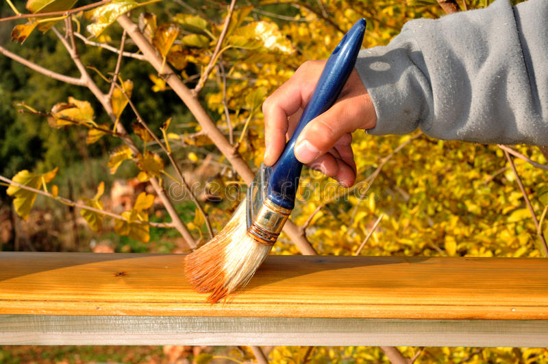 绘画木头 库存照片