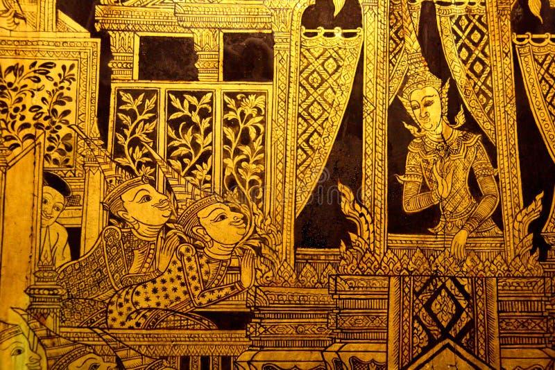 绘画样式泰国传统 免版税库存图片