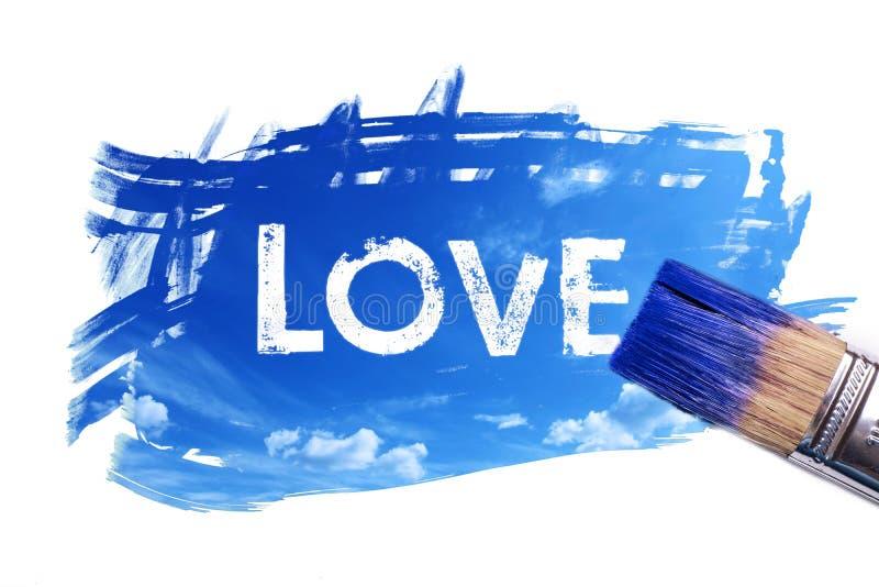 绘画爱词 向量例证