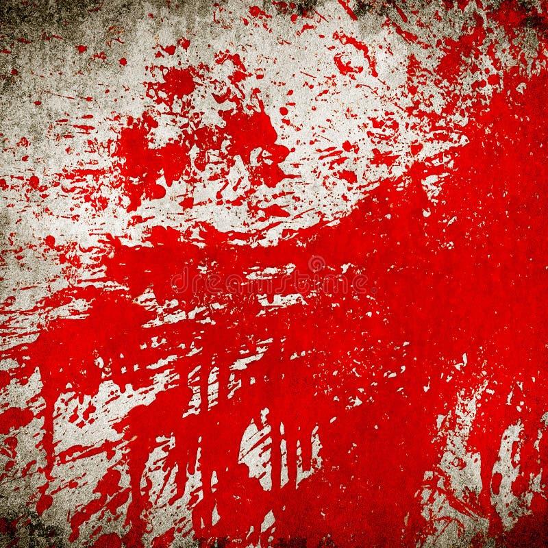 绘红色飞溅 库存照片