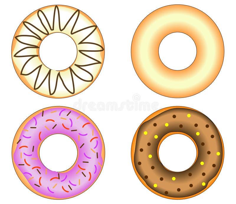 给上釉五颜六色的多福饼四 库存图片