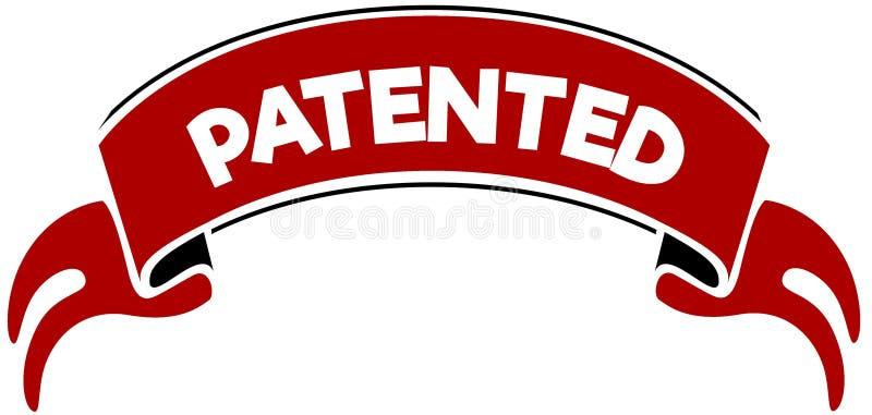 给予专利在红色带 向量例证