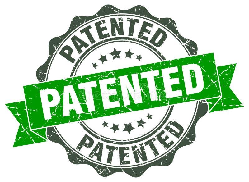 给予专利的印花税 库存例证