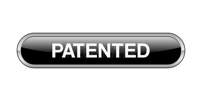 给予专利的按钮 库存例证